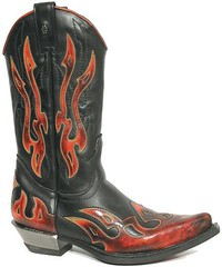 flame cowboy boots