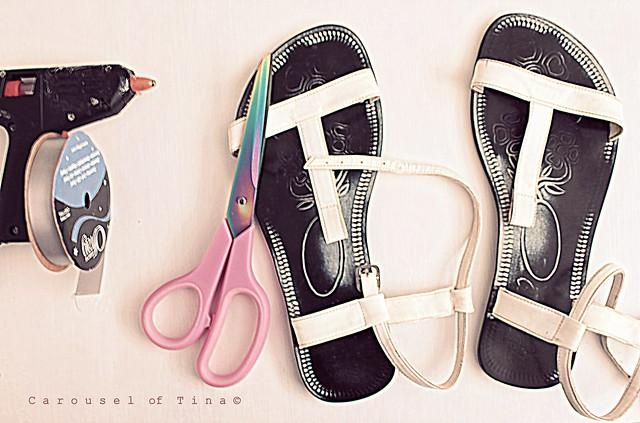 Ribbon Sandals 1