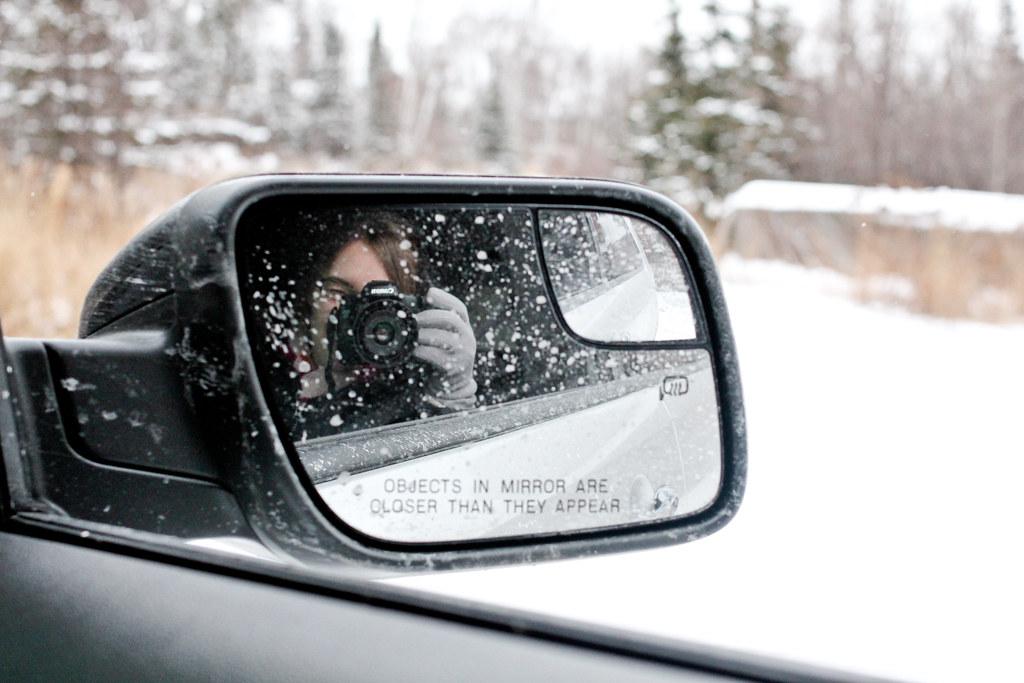 Sara in mirror