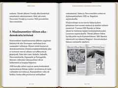 Kansainvälisten suhteiden käännekohtia - kahden sivun näkymä iPad-tabletissa