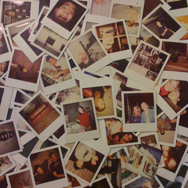 A small portion of my polaroids from back when I'd burn through packs like Polaroid instant would never run out