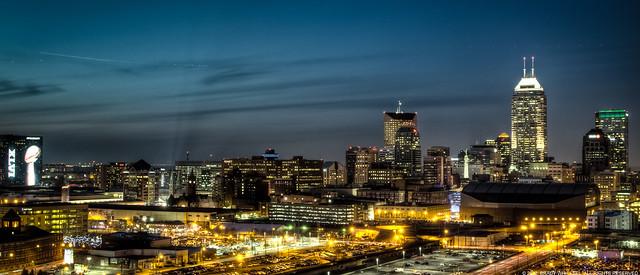 Downtown Indy Skyline Super Bowl Week