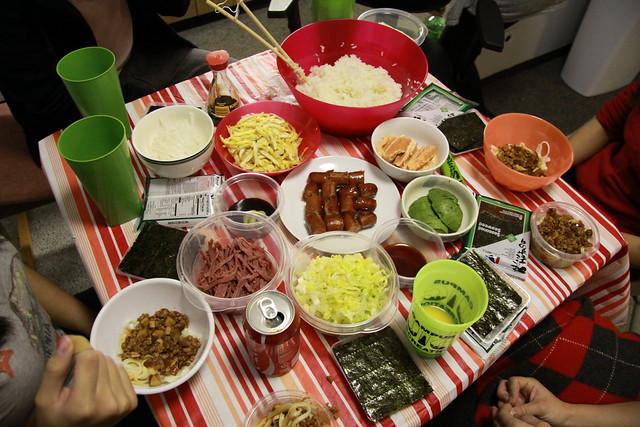 Haruna made sushi