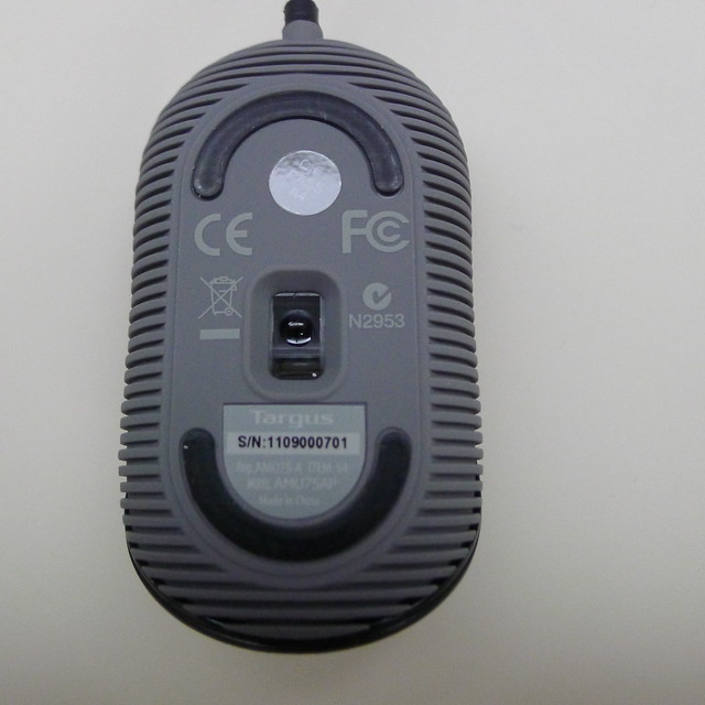 Targus Compact Blue Trace Mouse - Back View