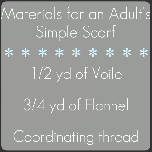 adult scarf materials