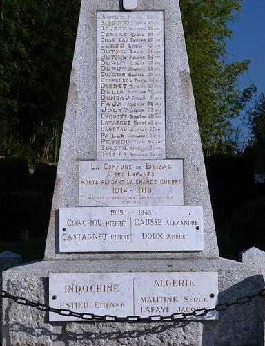 Birac-sur-Trec - War Memorial 02