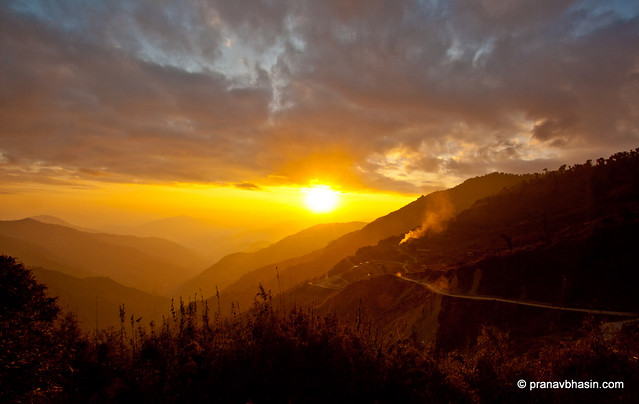 Sun Sets On Nathu La by Pranav Bhasin