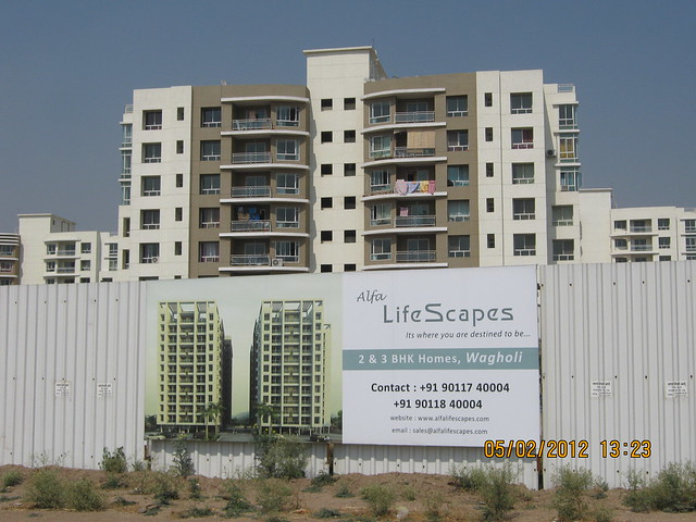 Konark Exotica & compound of Alfa Life Scapes, 2 BHK & 3 BHK Flats, on Wagholi Kesnand Road, Wagholi, Pune 412 207