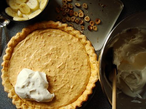 Nutella Banoffee Cream Pie: Assembly