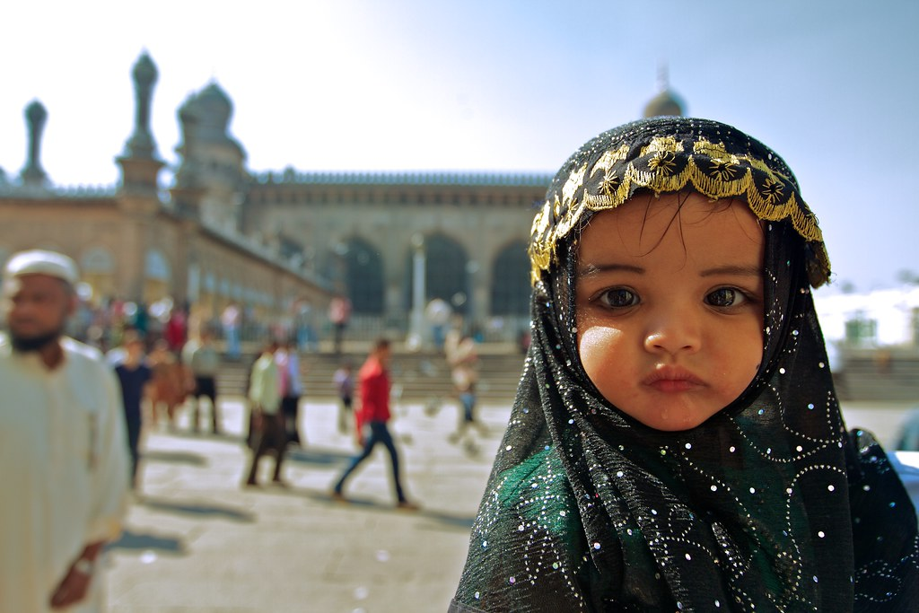 A baby at a mosque