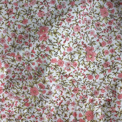 Vintage floral bed skirt