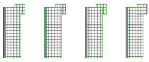Las lineas de suelos quedan sobre las líneas de los muros 6837640639_278292a78a
