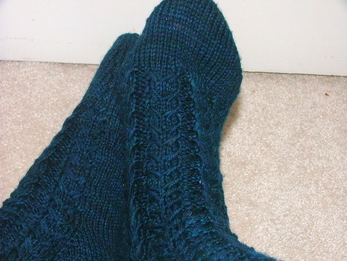 Slip-Stitch Cable Socks