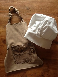 Sew Liberated apron (free pdf) and chef's hat (from Sew Liberated book)