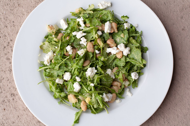 Arugula and White Bean Salad with Avocado Dressing - The ...