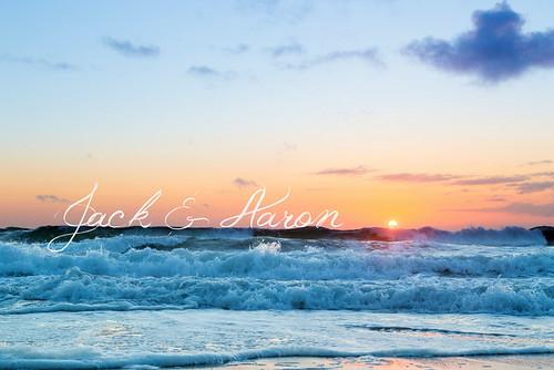 Jack and Aaron's Seafoam Sunset