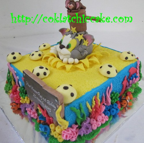 Kue ulang tahun tom and Jerry