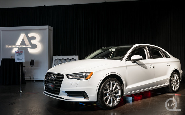 Glacier White Audi A3 at Audi Wilsonville's Event