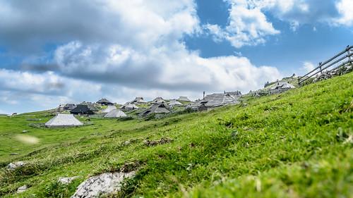 blue sky green nature clouds landscape slovenia velikaplanina nikond7000