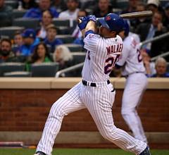 Neil Walker swings at a pitch