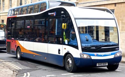 OU13 DZD 'Stagecoach Oxfordshire' 47831 Optare Solo SR on Dennis Basford's railsroadsrunways.blogspot.co.uk