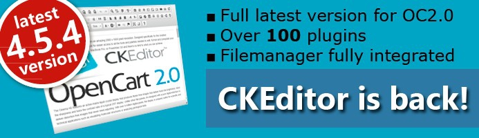 CKEditor is back! FULL++ v4.4.7 for OC2.0