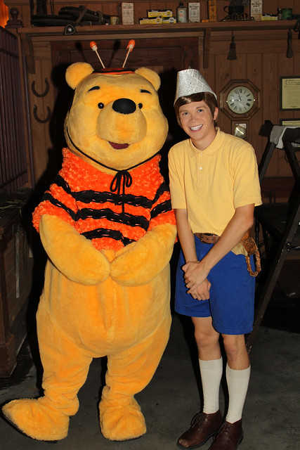 Meeting Winnie the Pooh and Christopher Robin