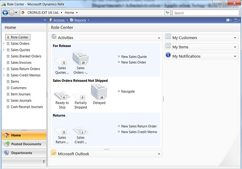 How to Change Default Role Center in Dynamics NAV RTC - Order Processor