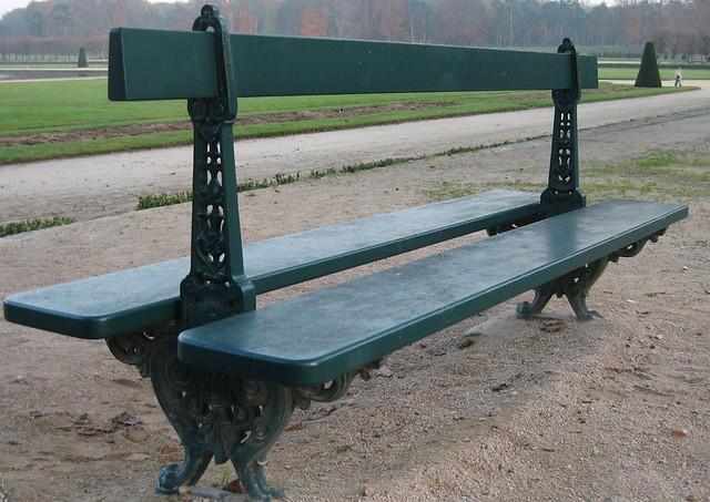 Bench at Fontainebleau Palace, France