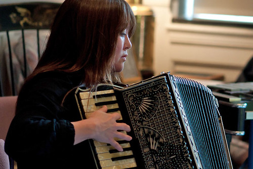 Sophia Travis Plays Accordion