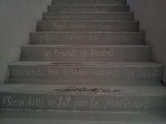 Des escaliers à lire...