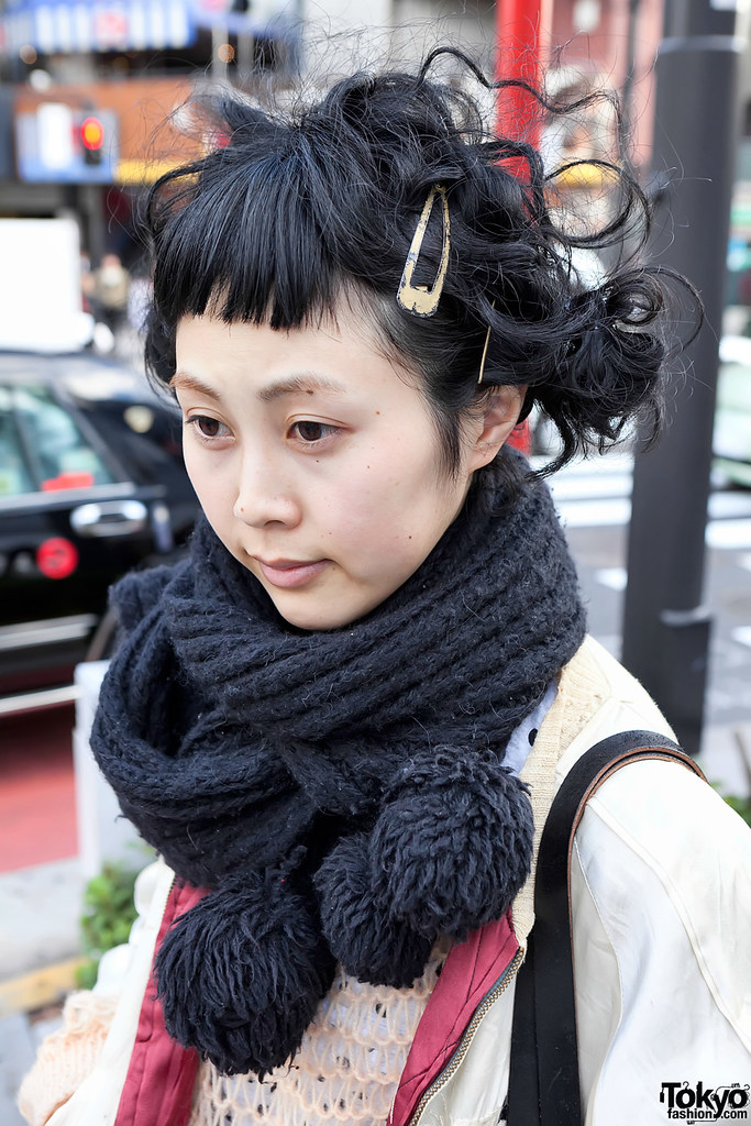 Cool Japanese Hairstyle In Harajuku This Girl Works At Tok Flickr