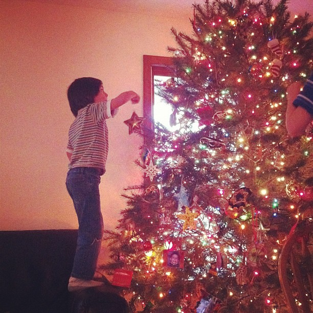 Decorating.