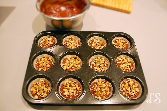 muffin chocolat et noix