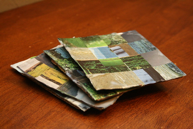 Magazine Upcycle coasters