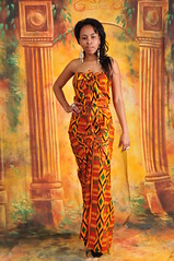 DSC_2024 Miss Southern Africa 2011 African Kente Cloth from Ghana Fashion London Studio