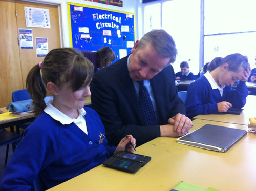 Education minister at Sprites Primary