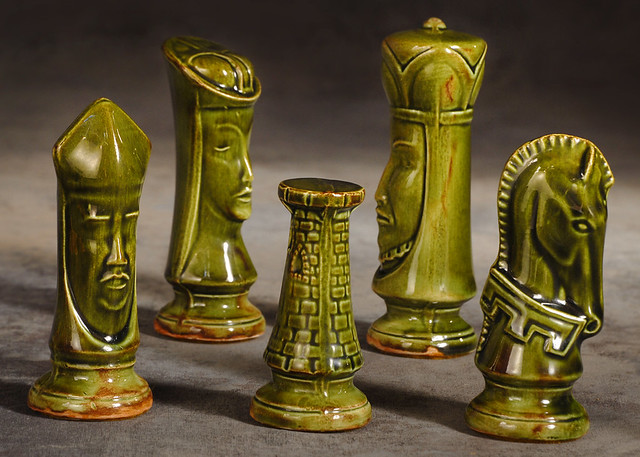 Mid century ceramic chess pieces this is a close up of a m flickr photo sharing - Ceramic chess sets for sale ...