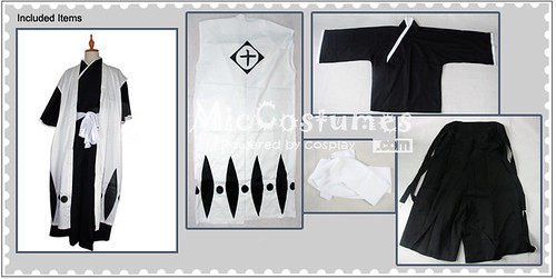 Bleach 10th Division Captain Toshiro Hitsugaya Cosplay Costume_1
