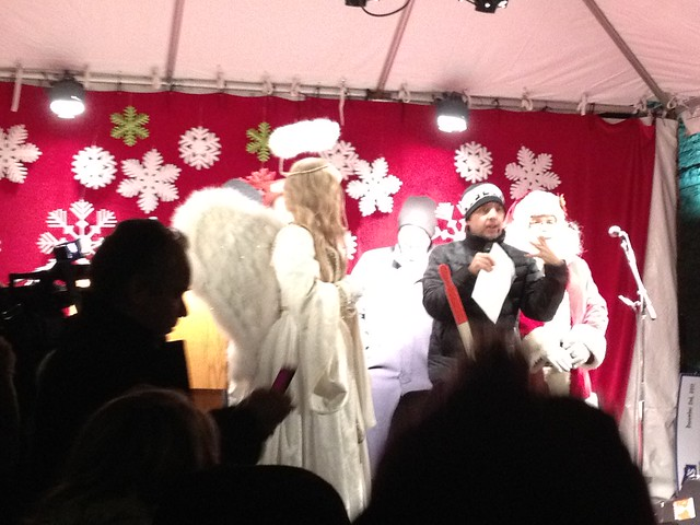 Frankie Flowers introducing the Christmas Angel