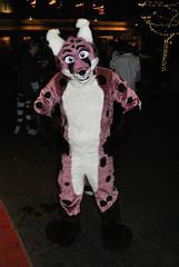 A purple cheetah