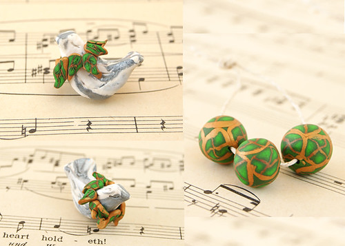 Silver Bird bead set copy