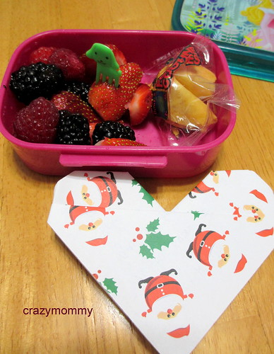 Berries berries & lucky fortune cookie and lunch box note