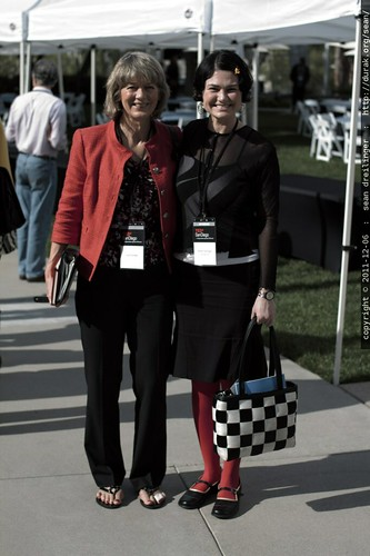 rachel with a world bank executive who dressed in similar colors for TEDx San Diego 2011    MG 3590