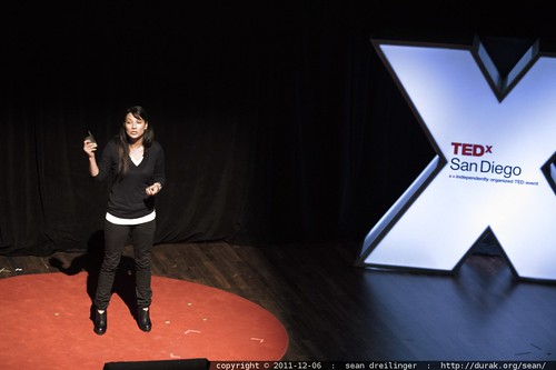 Alexis Chavez shares an ECOLIFE Foundation update with TEDx San Diego    MG 4081