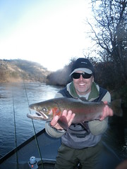 Thad with a Shasta Trout