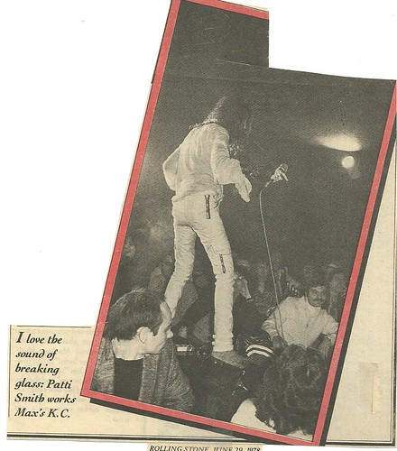 06-29-78 Rolling Stone Magazine - Patti Smith @ Max's