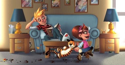 Desenhos Nerds - Calvin e Haroldo
