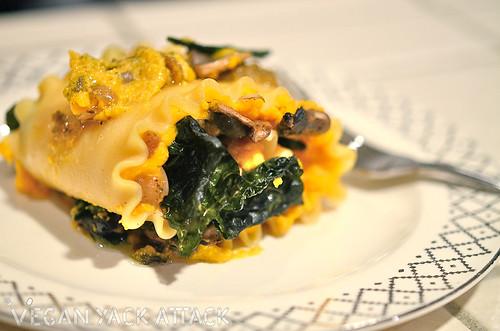 Butternut Squash & Mushroom Lasagna Rolls – Vegan Yack Attack