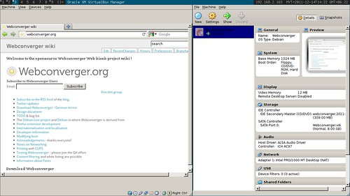 Webconverger Virtualbox